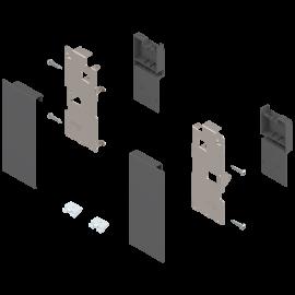 Zestaw mocowań frontu szuflady wewnętrznej legrabox ZI7.0KS0 antracyt