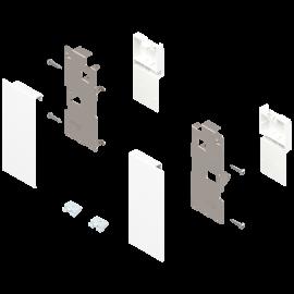 Zestaw mocowań frontu szuflady wewnętrznej legrabox ZI7.0KS0 białe