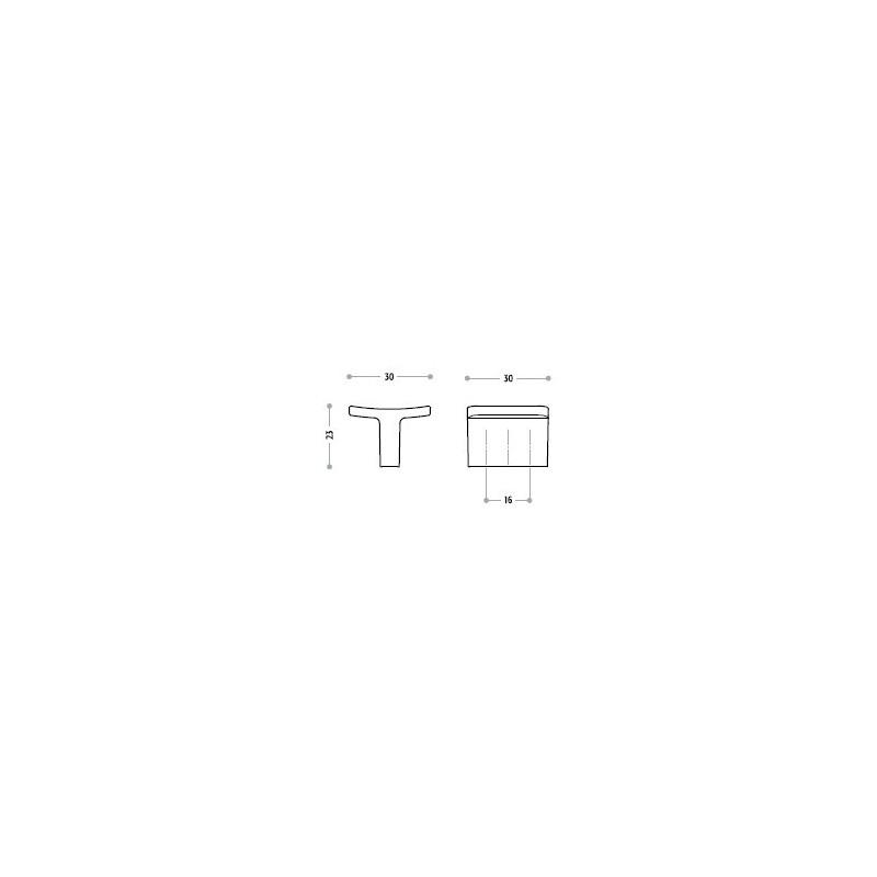 Uchwyt meblowy Union Knopf 217.357 rozstaw 16 mm 9604 aluminium