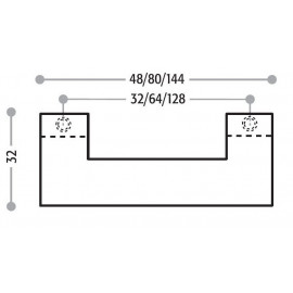 Uchwyt meblowy Union Knopf 216.960 rozstaw 64 mm 9604 aluminium