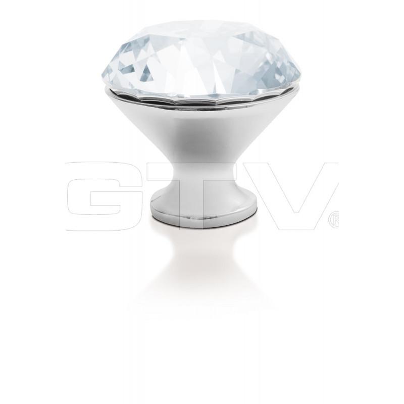 Gałka meblowa Gtv GZ CRPB-25-01 chrom+kryształ