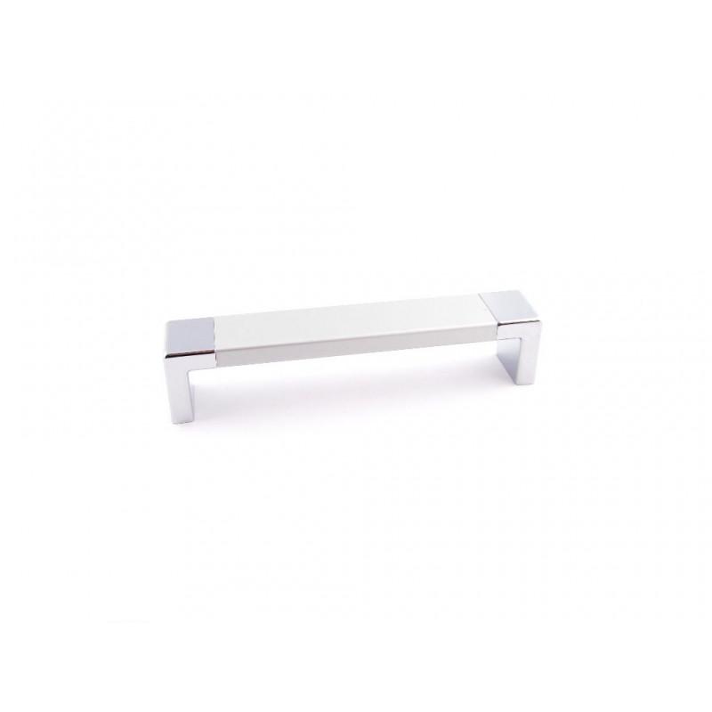 Uchwyt meblowy ENCATO  C-4409, 192 mm,  P60-G2  biały+chrom