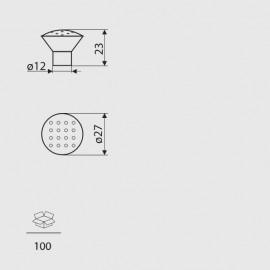 Gałka meblowa Gamet GA 28-G0008 aluminium
