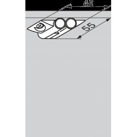 BLUM Adapter krzyżakowy, podwójny do blumotion 970.2501 R736