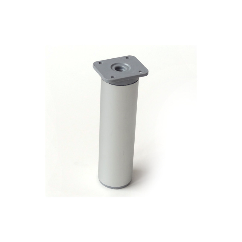 Nóżka meblowa wysokość 15 cm, okrągła fi-40mm, aluminium