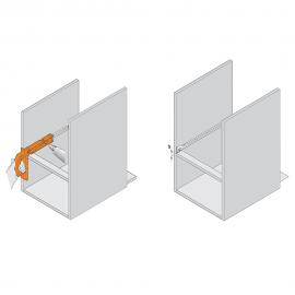 BLUM Minifix do METABOX i prowadnic rolkowych 65.3300