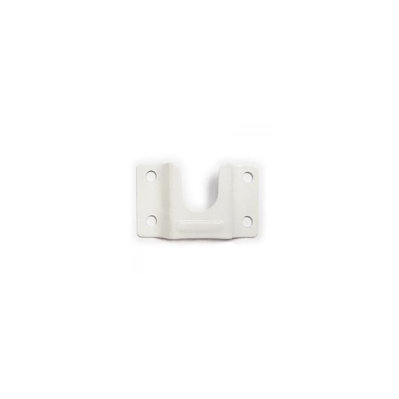 Uchwyt drążka owalnego do szafy biały