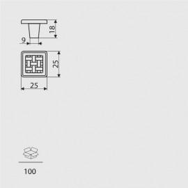 Gałka meblowa Gamet GR 10-G0005 ***