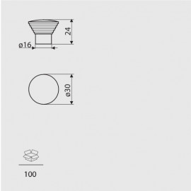 Gałka meblowa Gamet GA 08-G0004 chrom