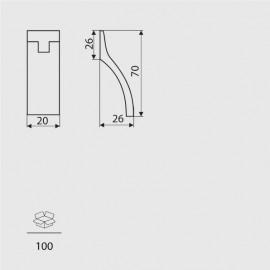 Gałka meblowa Gamet GG 39-G0008 aluminium