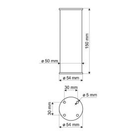 Nóżka meblowa NA11-0150-A0C00-R aluminium
