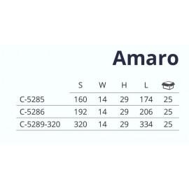 Uchwyt meblowy  AMARO  C-5285, 160 mm,  P61 czarny mat