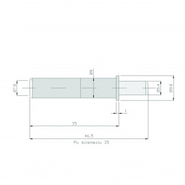 Amortyzator P-M popiel RAL 9006