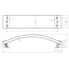 Uchwyt meblowy GTV UZ ROSES rozstaw 256 mm czarny