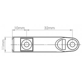 Adapter amortyzatora P-M czarny RAL 9011