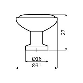 Uchwyt meblowy Kash GC 03 ML02
