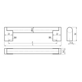 Uchwyt meblowy GTV UZ 336/320/06   inox