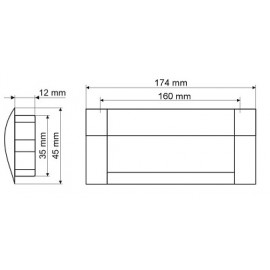 Uchwyt meblowy Gamet UA 08-0160-A0C00-G0004 aluminium+chrom