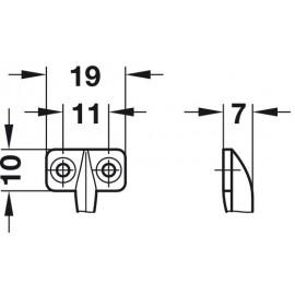 Ogranicznik otwarcia 20cm 366.73.200  szary