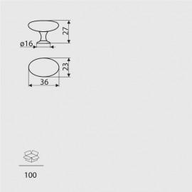 Gałka meblowa Gamet GP 09-G0008 aluminium