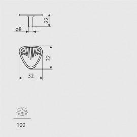Gałka meblowa Gamet GR 15-G0005