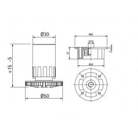 Nóżka kuchenna Volpato h 100, 400 kg, 3-częściowa