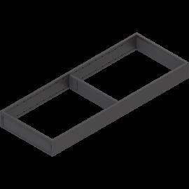 BLUM AMBIA-LINE rama do szuflad legrabox M/K ZC7S550RS2 czarna, szerokość 200mm, dł. 550mm