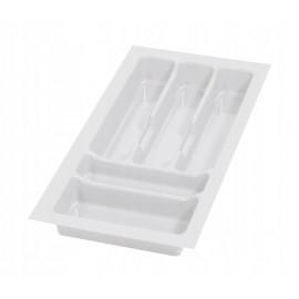 Wkład na sztućce do szuflady 30 cm głębokość 50 cm biały