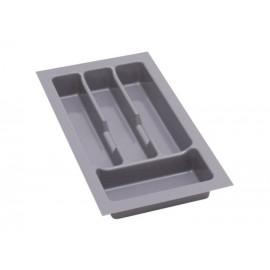 Wkład na sztućce do szuflady 30 cm głębokość 45 cm srebrny