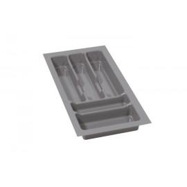 Wkład na sztućce do szuflady 30 cm głębokość 50 cm srebrny