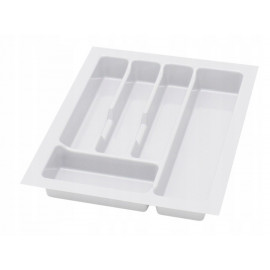 Wkład na sztućce do szuflady 40 cm głębokość 45 cm biały