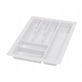 Wkład na sztućce do szuflady 40 cm głębokość 50 cm biały