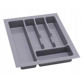 Wkład na sztućce do szuflady 40 cm głębokość 45 cm srebrny