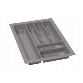 Wkład na sztućce do szuflady 40 cm głębokość 50 cm srebrny