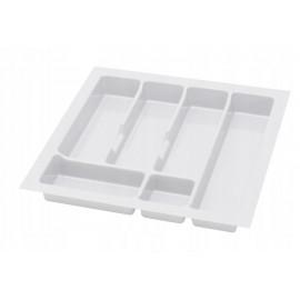 Wkład na sztućce do szuflady 50 cm głębokość 45 cm biały