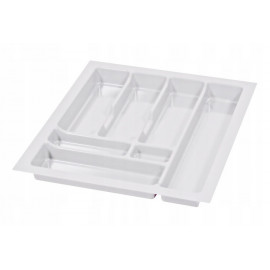 Wkład na sztućce do szuflady 50 cm głębokość 50 cm biały