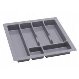 Wkład na sztućce do szuflady 50 cm głębokość 45 cm srebrny