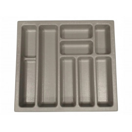 Wkład na sztućce do szuflady 70 cm głębokość 50 cm szary