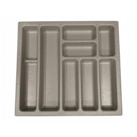 Wkład na sztućce do szuflady 80 cm głębokość 50 cm szary
