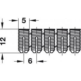 MUFA ROZPOROWA  M5x12         042.98.051