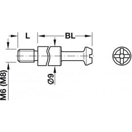 MAXIFIX   TRZPIEŃ B55/M6x9.5  262.87.902