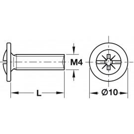 Wkręt do metalu 4x35 op.100 022.35.350