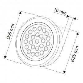 LED oprawa Oval 2W, biała ciepła szlif