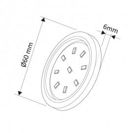 LED oprawa Orbit XL 3W biała ciepła
