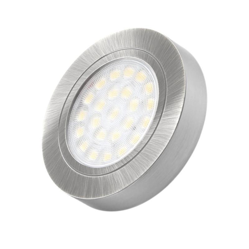 LED oprawa Oval z dystansem szlif 2W, biała ciepła