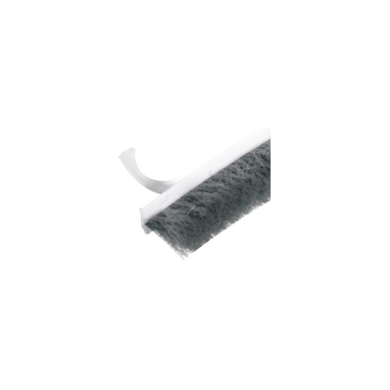 Szczotka 6,7mm x 12mm przeciwkurzowa z klejem nr 0089 szara