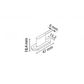 Prowadnik dolny brązowy AO-075 nr 1151