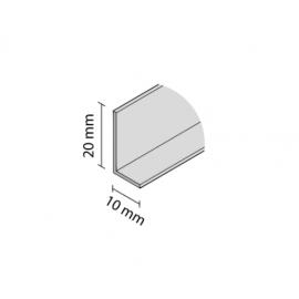 Kątownik gładki  L-10/20  czarny mat    nr 8913   3m