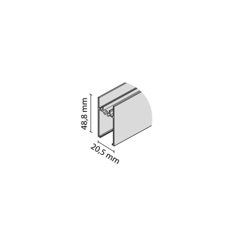 Ramiak poziomy RAMA czarny mat  nr 8833
