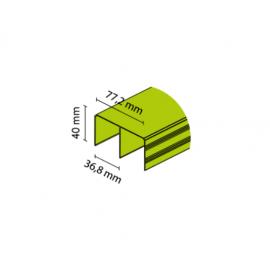 Tor górny uniwersalny nr. 8846 czarny połysk